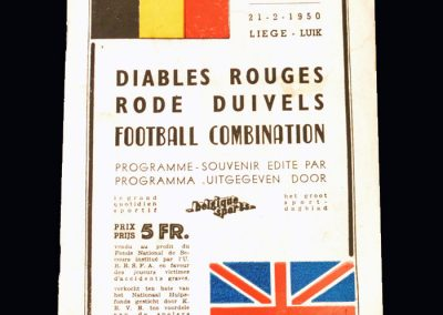 Red Devils Belgium v London Combination 21.02.1950