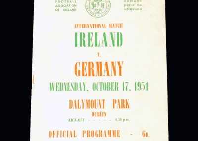 Ireland v Germany 17.10.1951