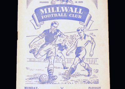 Man Utd A v Millwall 05.10.1953 (friendly)
