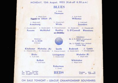 Blues v Reds 15.08.1955 (Chelsea public practice game)