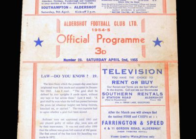 Aldershot v Coventry 02.04.1955 (1-1)