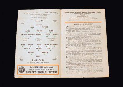 Wolves v Blackpool 21.01.1956