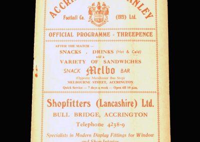 Man Utd v Accrington Stanley 26.02.1957 - Lancashire Cup