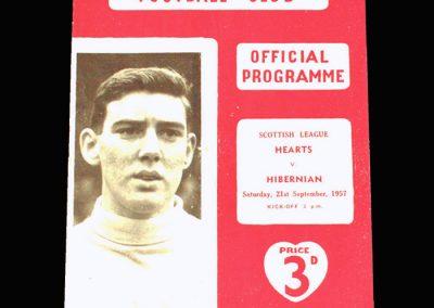 Hearts v Hibs 21.09.1957