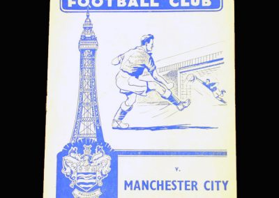 Man City v Blackpool 19.10.1957