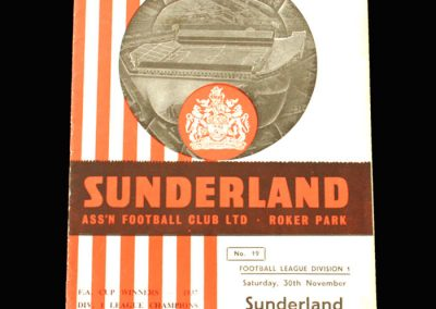 Man City v Sunderland 30.11.1957