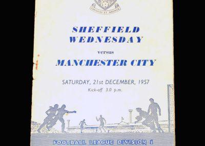 Man City v Sheff Wed 21.12.1957
