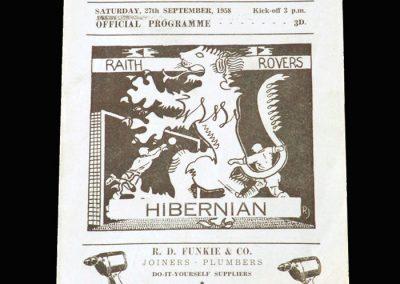 Raith Rovers v Hibernian 27.09.1958