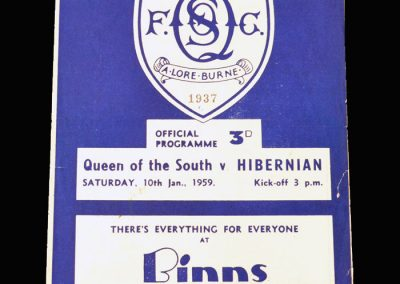 Queen of the South v Hibernian 10.01.1959