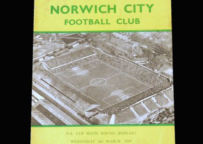 Norwich v Sheff Utd 04.03.1959 - FA Cup 6th Round Replay