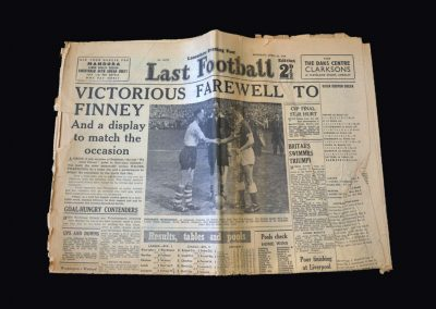 Preston v Luton 30.04.1960 - Finneys last game feature in Lancashire Evening Post
