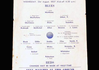 Blues v Reds 21.08.1957 (Chelsea public practice)