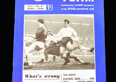 Team Magazine April 1964 - What's wrong with Jimmy? (dropped from the England team)
