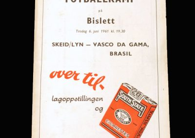 Skeid v Vasco da Gama 06.06.1961