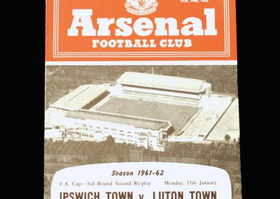 Ipwich v Luton 15.01.1962 - FA Cup 3rd Round 2nd Replay