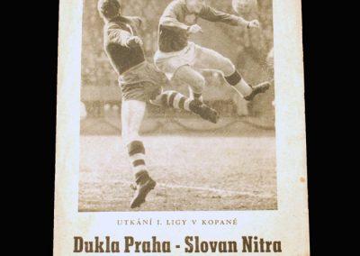 Dukla Prague v Slovan 30.08.1962