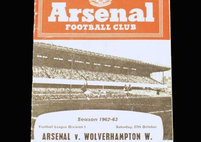 Arsenal v Wolves 27.10.1962