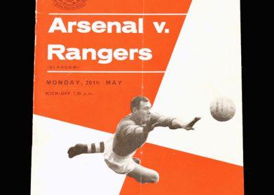 Arsenal v Rangers 20.05.1963 (Kelsey testimonial)