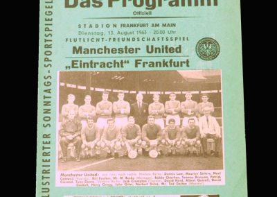 Man Utd v Eintracht Frankfurt 13.08.1963 (Friendly)