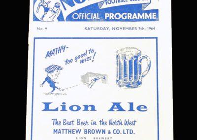 Man City v Preston 07.11.1964