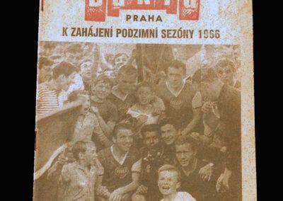 Dukla Prague Magazine Season 1965/66