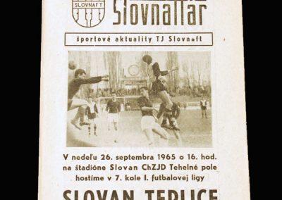 Slovan v Slovnaft 26.09.1965