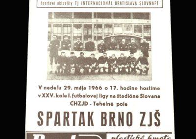 Slovan v Spartak 29.05.1966