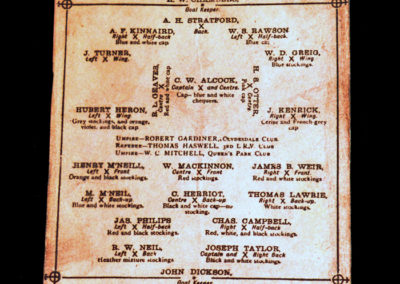 Queens Park v Wanderers 09.10.1875 Lord Kinnaird & his English cup holders beaten 5-0