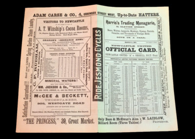 Newcastle v Seghill 02.03.1901 Colin Veitch in the A team