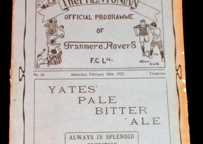 Tranmere v Middlewich 10.02.1923