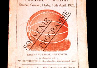 Old Internationals v Derby 18.04.1923 Steve Bloomer Testimonial