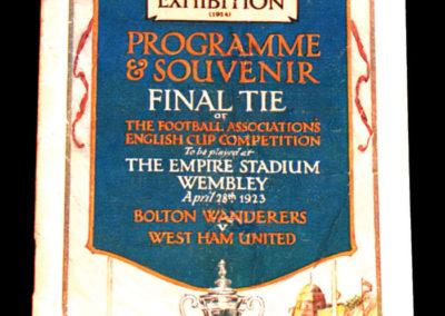 FA Cup Final - Bolton v West Ham 28.04.1923