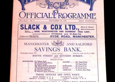Manchester City v Newcastle 20.09.1924