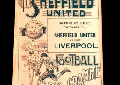 Sheffield United Reserves v Heely Friends 30.11.1901