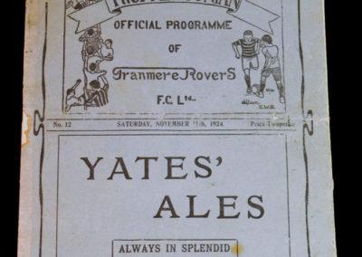 Tranmere v Crewe 15.11.1924 Dixie Dean Centre Forward for Tranmere