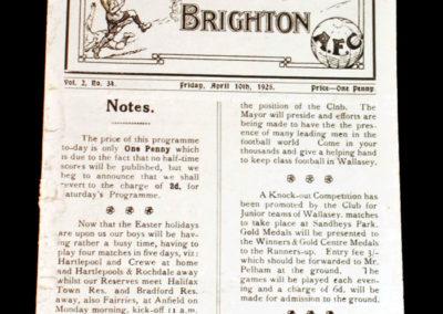 New Brighton v Hartlepool 10.04.1925