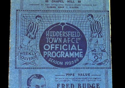 Huddersfield v Man City 26.09.1925