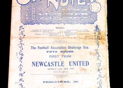 Clapton Orient v Newcastle 20.02.1926
