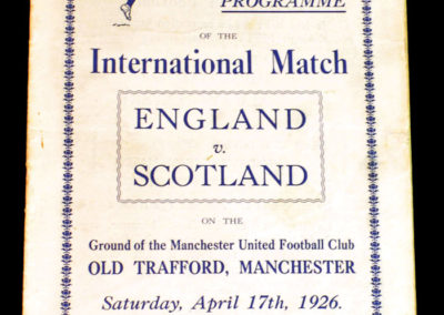 England v Scotland 17.04.1926 0-1. Jackson scores the only goal