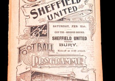 Sheffield Wednesday Reserves v Roundell 14.02.1903