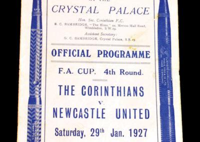 Corinthians v Newcastle 29.01.1927