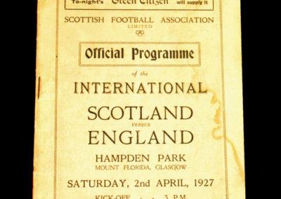 Scotland v England 02.04.1927