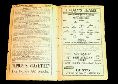 Middlesbrough v Reading 30.04.1927