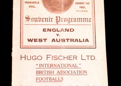 West Australia v England 01.08.1925