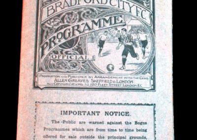 Bradford City v Burnley 20.04.1908