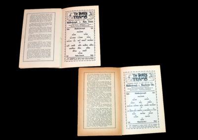 Middlesbrough v Nottingham Forest 19.12.1908 Middlesbrough v Manchester City 20.03.1909