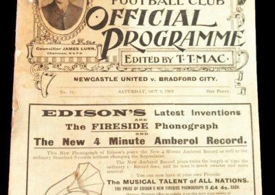 Newcastle v Bradford City 09.10.1909