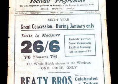Whites v Stripes 31.01.1910 England Trial Match
