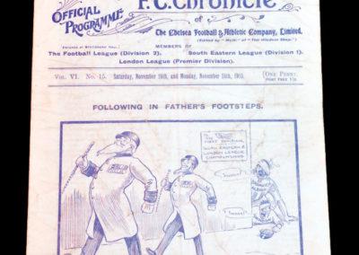 Chelsea v Hull 26.11.1910 QPR v Swindon 28.11.1910