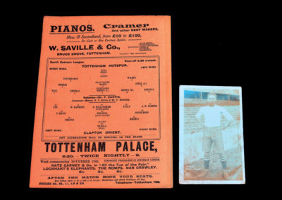 Tottenham Hotspur Reserves v Clapton 26.11.1910 with Walter Tull Photograph